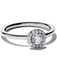 De Beers Platinum My First Aura Solitaire Diamond Ring - Multicolor