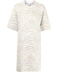 PROENZA SCHOULER WHITE LABEL ゼブラプリント Tシャツワンピース - グリーン