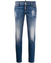 DSquared² Cropped Jeans - Blue