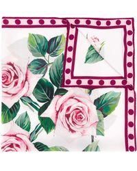 Dolce & Gabbana - ローズプリント スカーフ - Lyst