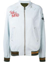 Mr & Mrs Italy - Patch Detail Bomber Jacket - Lyst