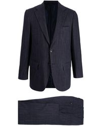 Kiton シングルブレスト テーラードスーツ - ブルー