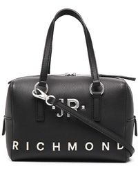 John Richmond ロゴトリム ハンドバッグ - ブラック