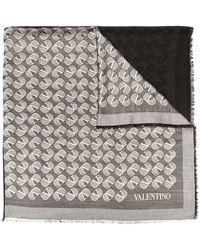 Valentino ロゴ スカーフ - ブラック