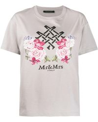Mr & Mrs Italy ロゴ Tシャツ - グレー