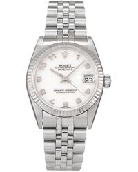 Rolex Montre Datejust 31 mm pre-owned (1997) - Blanc