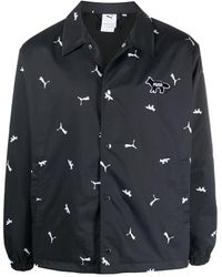 PUMA Monogram-pattern Jacket - Black