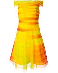 Ralph Lauren Collection Многослойное Платье С Открытыми Плечами - Желтый