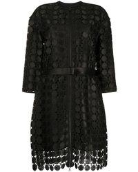 Karl Lagerfeld Пальто С Вышивкой - Черный