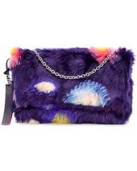 PS by Paul Smith - Faux Fur Circle Print Shoulder Bag - Lyst