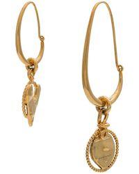 Givenchy - Gold Metallic Heart Earrings - Lyst