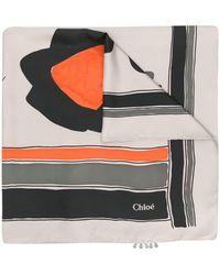 Chloé - カラーブロック スカーフ - Lyst
