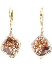 Saqqara - Sliced Diamond Drop Earrings - Lyst