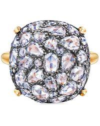 Fred Leighton Bague ornée de diamants pavée de diamants - Métallisé