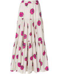 LaDoubleJ Long floral print skirt - Rose