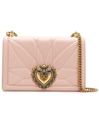 Dolce & Gabbana Стеганая Сумка На Плечо Devotion - Розовый