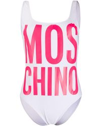 Moschino プリント水着 - ホワイト