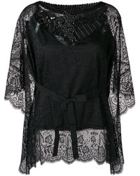 Antonio Marras Embellished Lace Blouse - ブラック