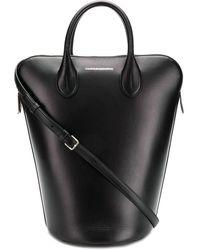 CALVIN KLEIN 205W39NYC Dalton Mini Leather Bucket Bag - Black