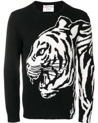 Valentino Tijger Intarsiasweater - Zwart