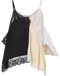 Burberry Lace Trim Reconstructed Camisole - Black