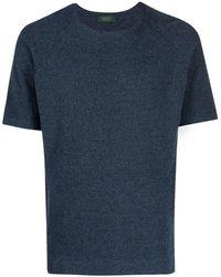 Zanone ラウンドネック Tシャツ - ブルー
