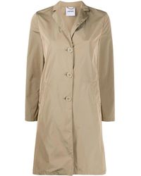 Aspesi Single-breasted Trench Coat - Natural
