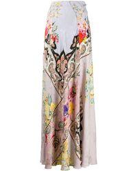 Etro Длинная Юбка С Цветочным Принтом - Многоцветный