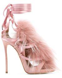 DSquared² - Fur Embellished Sandals - Lyst