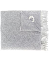 Polo Ralph Lauren フリンジ ロゴ スカーフ - グレー