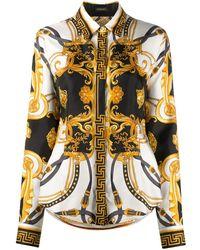 Versace Camisa con motivo Barocco - Blanco