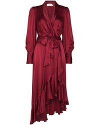 Zimmermann Tie-waist Draped Design - Red
