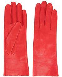 Manokhi Shark-tooth Short Gloves - Red