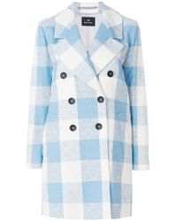 PS by Paul Smith - Double Breasted Check Coat - Lyst