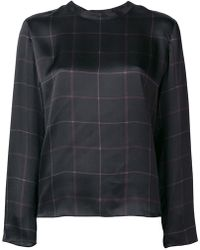 Vince - Longsleeved Checked Blouse - Lyst