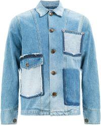 Ports 1961 - Raw Pocket Denim Jacket - Lyst