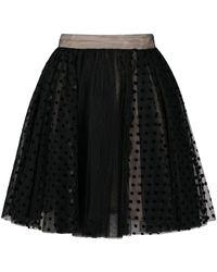 BROGNANO チュール スカート - ブラック