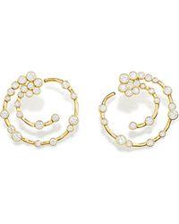 Ippolita 18kt Yellow Gold Diamond Starlet Supernova Earrings - Metallic