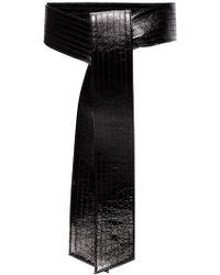 Givenchy - Giv Blk Belt Wide Patwnt Lthr - Lyst