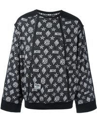 KTZ モノグラム柄 スウェットシャツ - ブラック