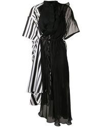 Sacai デコンストラクテッド ドレス - ブラック