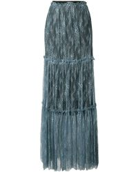 Twin Set - Lace Panel Skirt - Lyst