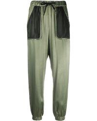 Love Moschino メッシュポケット パンツ - グリーン