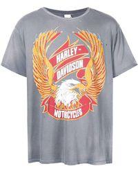 MadeWorn Camiseta Harley Davidson con motivo de águila - Multicolor