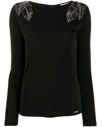 Liu Jo クリスタルディテール セーター - ブラック