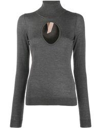 N°21 カットアウト セーター - グレー