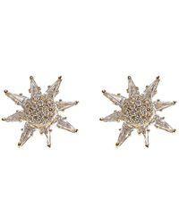Bondeye Золотые Серьги-гвоздики Calypso С Бриллиантами И Топазами - Металлик