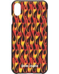 Palm Angels Flame-print Iphone Xs Max Case - Black