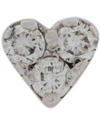 Kismet by Milka Orecchino a forma di cuore in oro rosa 14kt con diamante - Metallizzato