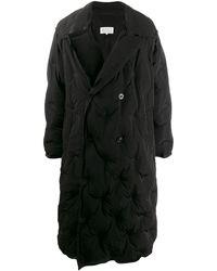 Maison Margiela Oversized Quilted Trench Coat - Black